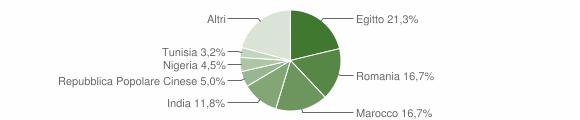 Grafico cittadinanza stranieri - Annicco 2019
