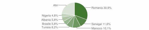 Grafico cittadinanza stranieri - Casei Gerola 2019