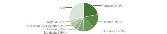 Grafico cittadinanza stranieri - Collebeato 2018