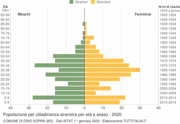Grafico cittadini stranieri - Osio Sopra 2020