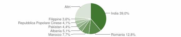 Grafico cittadinanza stranieri - Romanengo 2019