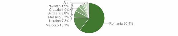 Grafico cittadinanza stranieri - Corteno Golgi 2010