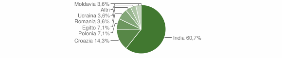 Grafico cittadinanza stranieri - Longhena 2010