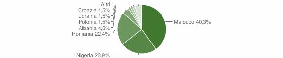 Grafico cittadinanza stranieri - Tornata 2019