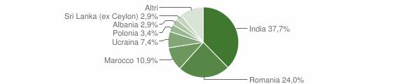 Grafico cittadinanza stranieri - Ceresara 2019