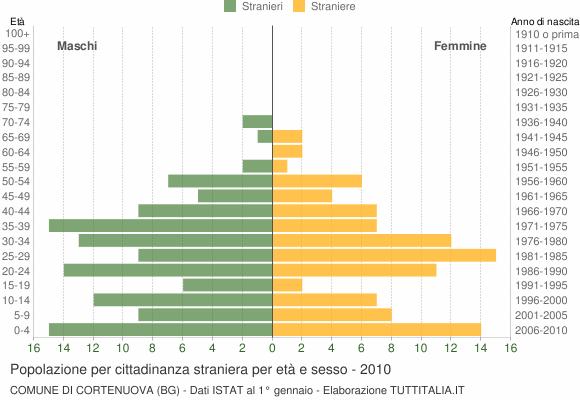 Grafico cittadini stranieri - Cortenuova 2010