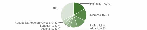 Grafico cittadinanza stranieri - Poncarale 2008
