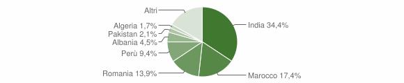 Grafico cittadinanza stranieri - Sesto ed Uniti 2011
