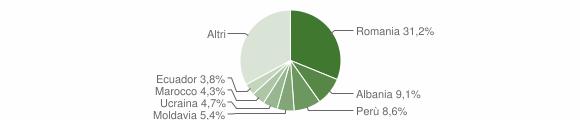 Grafico cittadinanza stranieri - Gessate 2019