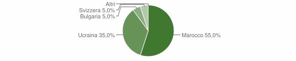 Grafico cittadinanza stranieri - Pertica Alta 2010