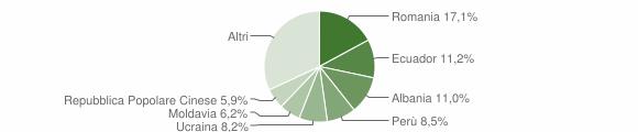 Grafico cittadinanza stranieri - Bareggio 2012