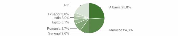 Grafico cittadinanza stranieri - Calvenzano 2010