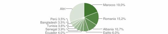 Grafico cittadinanza stranieri - Codogno 2011