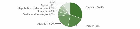 Grafico cittadinanza stranieri - Fiesse 2008