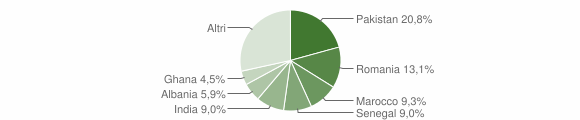 Grafico cittadinanza stranieri - Paderno Franciacorta 2019