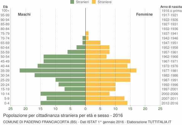 Grafico cittadini stranieri - Paderno Franciacorta 2016