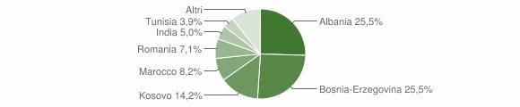 Grafico cittadinanza stranieri - Pumenengo 2016
