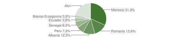 Grafico cittadinanza stranieri - Sulbiate 2016