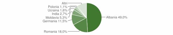 Grafico cittadinanza stranieri - Tremosine sul Garda 2011