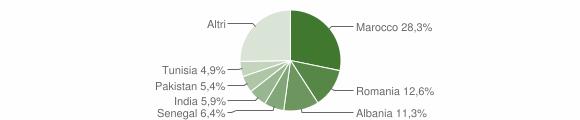Grafico cittadinanza stranieri - Adro 2009