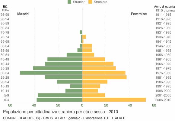 Grafico cittadini stranieri - Adro 2010