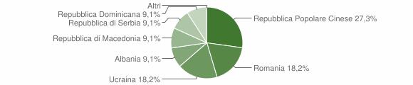Grafico cittadinanza stranieri - Castello dell'Acqua 2009