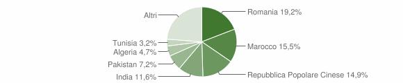 Grafico cittadinanza stranieri - Lograto 2009