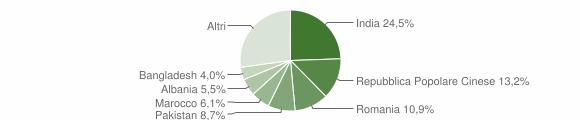 Grafico cittadinanza stranieri - Lograto 2019