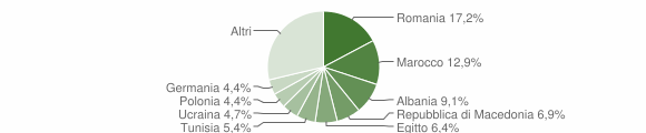 Grafico cittadinanza stranieri - Manerba del Garda 2010