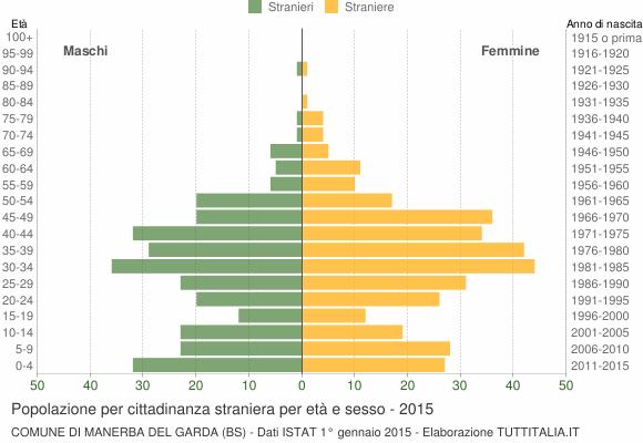 Grafico cittadini stranieri - Manerba del Garda 2015