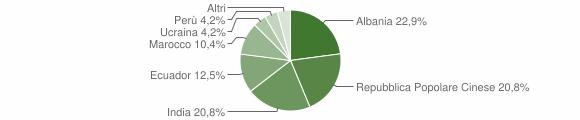 Grafico cittadinanza stranieri - Meleti 2011