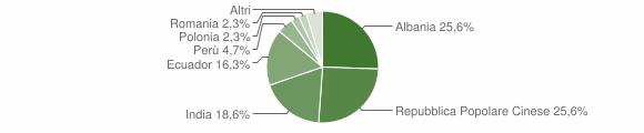 Grafico cittadinanza stranieri - Meleti 2012