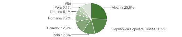 Grafico cittadinanza stranieri - Meleti 2015