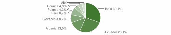 Grafico cittadinanza stranieri - Meleti 2018