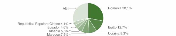 Grafico cittadinanza stranieri - Muggiò 2019