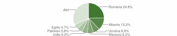 Grafico cittadinanza stranieri - San Zeno Naviglio 2019