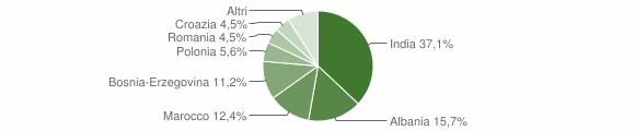 Grafico cittadinanza stranieri - Caselle Landi 2018