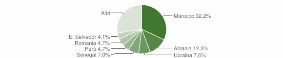 Grafico cittadinanza stranieri - Dervio 2016