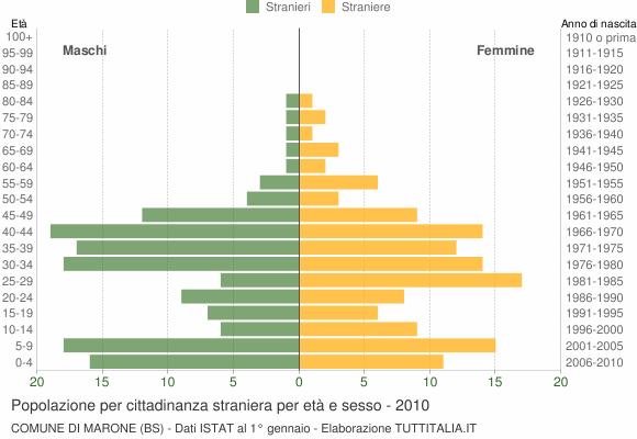 Grafico cittadini stranieri - Marone 2010