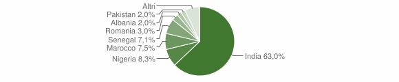 Grafico cittadinanza stranieri - Pralboino 2009