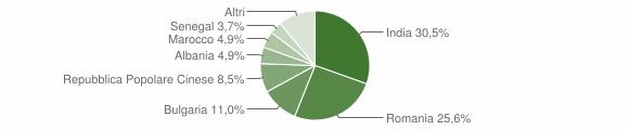 Grafico cittadinanza stranieri - Camisano 2019