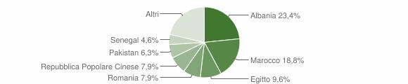 Grafico cittadinanza stranieri - Castel Rozzone 2016