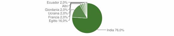 Grafico cittadinanza stranieri - Castelvisconti 2014