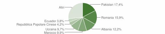 Grafico cittadinanza stranieri - Cesano Maderno 2015