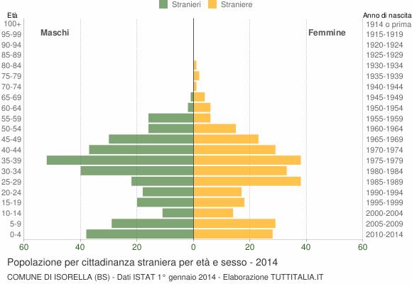 Grafico cittadini stranieri - Isorella 2014