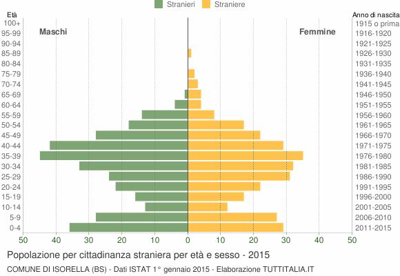 Grafico cittadini stranieri - Isorella 2015