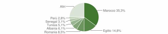 Grafico cittadinanza stranieri - Mozzate 2014