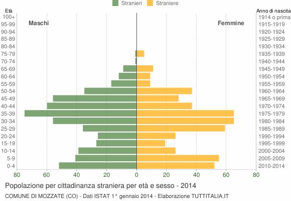 Grafico cittadini stranieri - Mozzate 2014