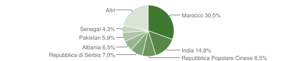Grafico cittadinanza stranieri - Pompiano 2010