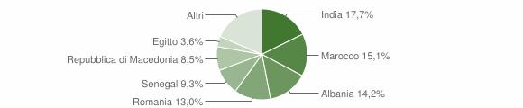 Grafico cittadinanza stranieri - Pontevico 2009